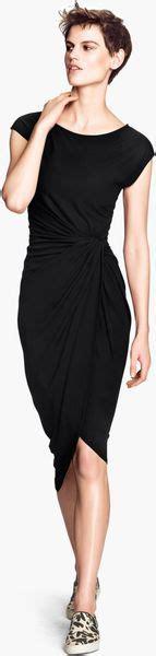 h m draped dress h m draped dress in black lyst