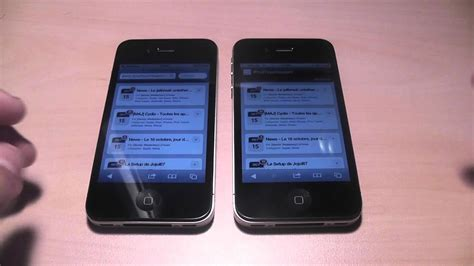 H Iphone 4s by Comparatif Du Iphone 4 Et Iphone 4s