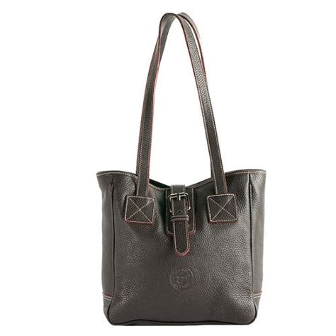 dooney bourke pebbled leather buckle tote