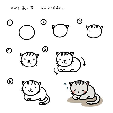 drawing doodle cat 1 how to draw a cat how to