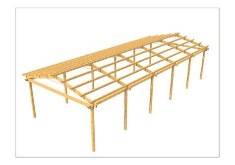 progettare una tettoia in legno progetti strutture in legno coperture in legno in