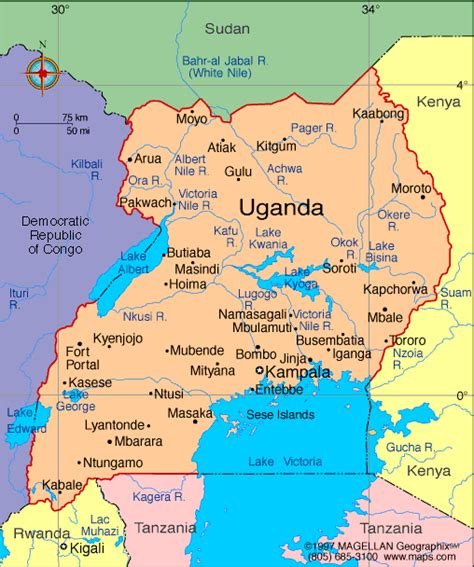 map of uganda atlas uganda