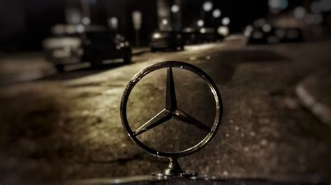 logo mercedes wallpaper wallpaper water logo metal light darkness