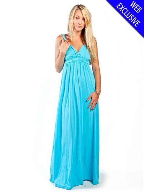 Dress Maxi Fresca aqua maxi dresses