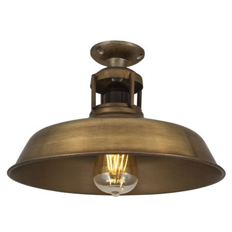 vintage industrial barn slotted flush mount ceiling light