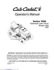 Cub Cadet 1525 Manuals