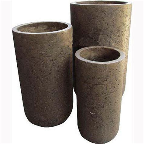 Cadix Planters by Elements Cylinder Brown Cadix Garden Planters