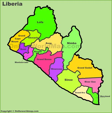 where is liberia located on the world map map of liberia my