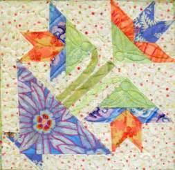 potted flower block by ladylike design quilting pattern