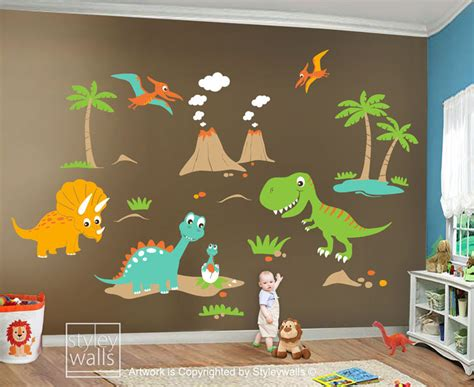 dinosaur wall decals children wall decals dino land dinosaurs wall decal wall