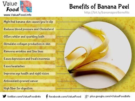 Banana Medicinal And Cosmetic Value by Health Benefits Of Banana Peel Value Food