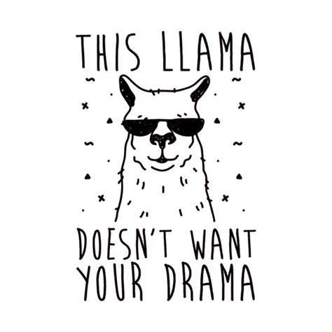 llama drama colouring for llama drama books llama drama thug t shirt teepublic