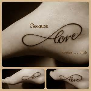 Tattoos With Infinity Signs And Words Infinito Toptattoogirls