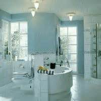 light blue bathroom domesticity