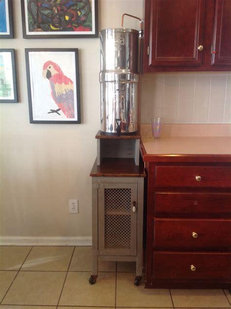 cabinet water filter diy berkey water filter stand with storage rustic pie