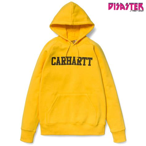 Faculty Of Yellow hooded faculty sweat yellow black disaster wear