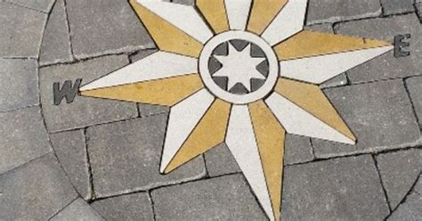 compass rose  stone inlay patio medallions pinterest