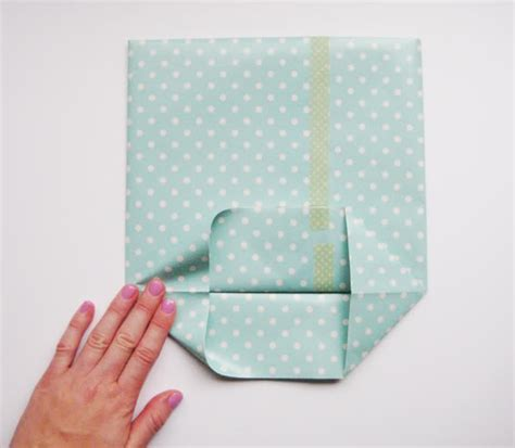 How To Fold Wrapping Paper Into A Bag - hello sandwich paper gift bag tutorial
