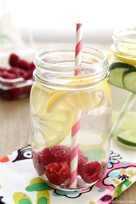 Raspberry Lemon Detox Water Recipe by Fruit Infused Water Recipes For Summer Blissfully Domestic