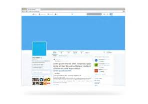 free april 2014 twitter profile page psd mockup template