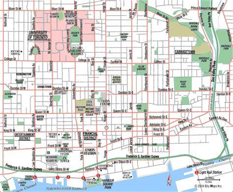 canadian map toronto toronto map for dummies