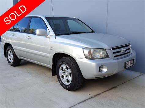 Toyota Seven Seater Suv Sold 2003 Toyota Kluger 4x4 7 Seater Suv Wagon Used