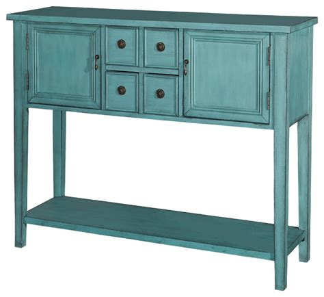 Blue Sofa Table L Powell Acquisition Corp Duplin Console Blue Console