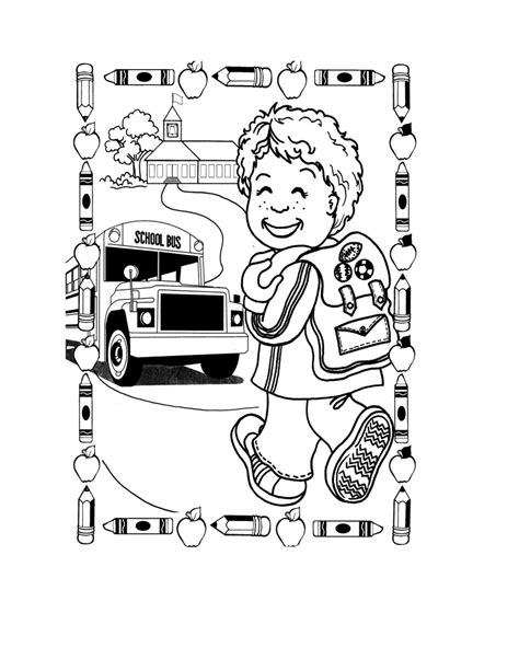 back to school coloring pages for first grade coloring