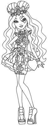 coloring page after high lizzie hearts by elfkena on deviantart