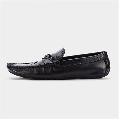 Stud Loafers herilios five stud leather black loafers h6105d51 0cm