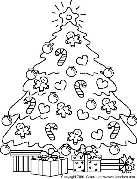 christmas tree coloring pages coloringpagesabc com