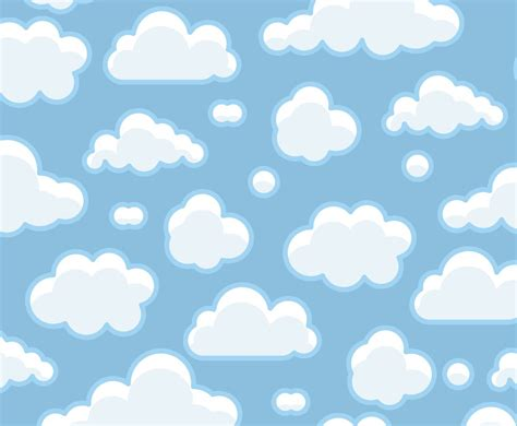 free cloud pattern background blue clouds background vector art graphics freevector com