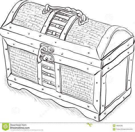 the in the chor trunk an blanc mystery books coffre en bois de pirate illustration de vecteur photo