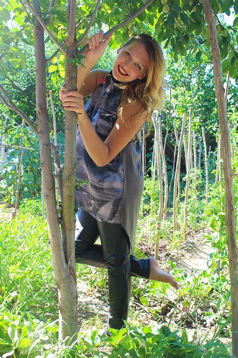 barefoot   garden  grandmother