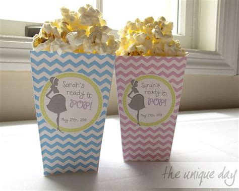 Baby Shower Popcorn Boxes by About To Pop Baby Shower Rtp Chevron
