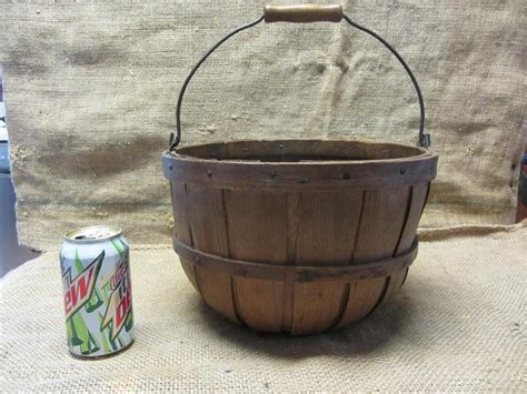 vintage apple 1 3 bushel basket rare size gt antique old garden kitchen 9325 ebay
