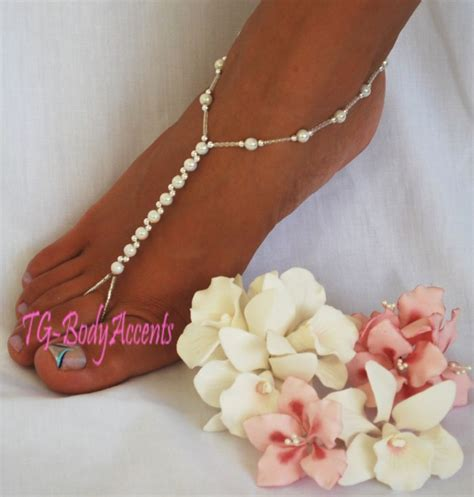 how to make foot jewelry barefoot sandals foot jewelry wedding white ab 2pc