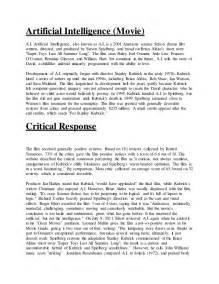 Intelligence Essay by Artificial Intelligence Essay Artificial Intelligence At