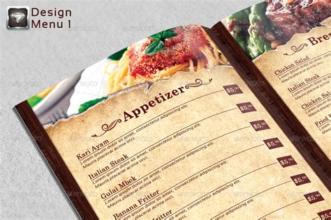 modern menu template modern vintage restaurant menu templates by riliant dika