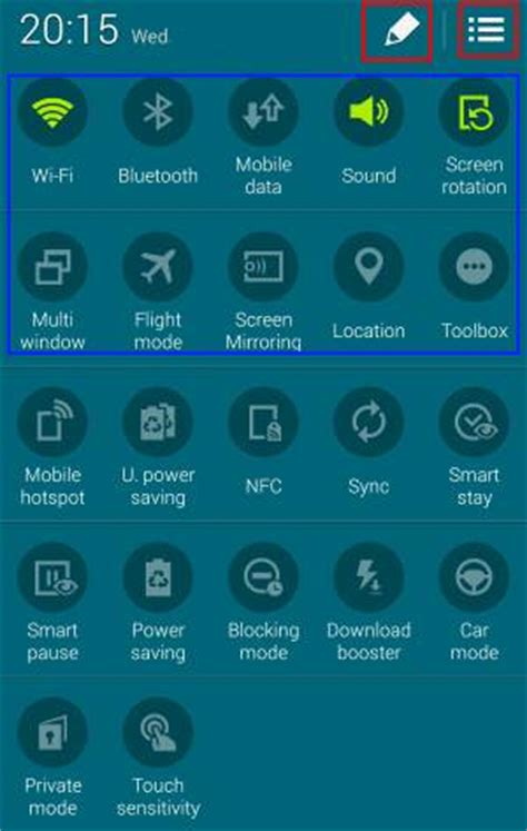 samsung galaxy s5 how to use quick settings panel in how to access and use galaxy s5 quick settings panel