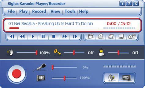 siglos karaoke player/recorder 2 software