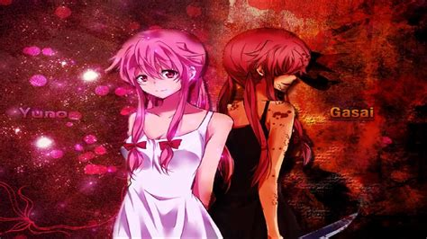 wallpaper anime yuno yuno gasai light dark full hd wallpaper and background