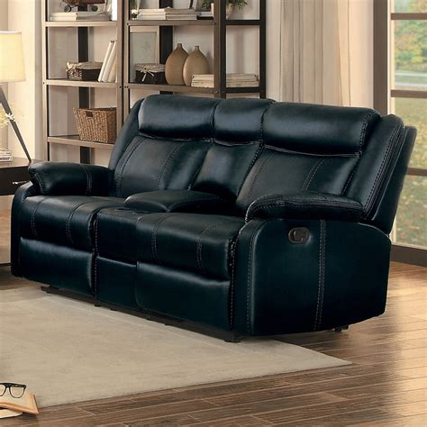 reclining loveseat with center console jude black double glider reclining loveseat with center