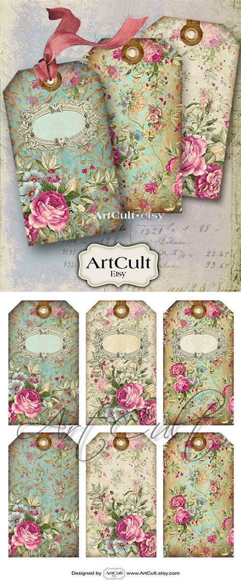 printable victorian tags gift tags jewelry holders no 10 digital collage sheet