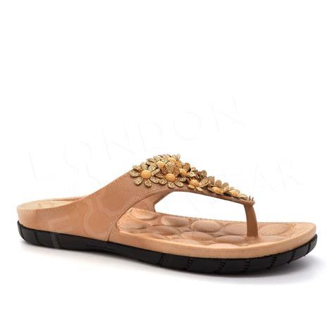 womens flat shoes uk new summer sandals flip flops womens flowers