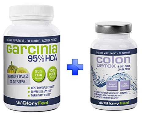 Cambogia Slim And Detox Max by 95 Hca Garcinia Cambogia Extract Colon Detox Bundle For