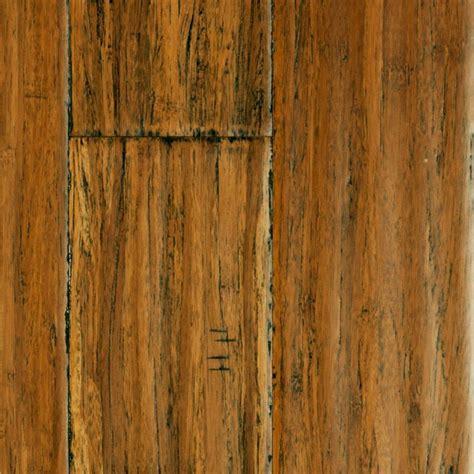 "9/16"" x 5 1/8"" Handscraped Honey Strand Bamboo   Morning"