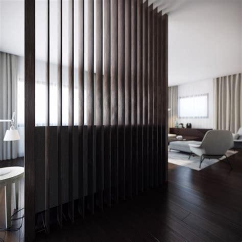 wood slat room divider interior design ideas