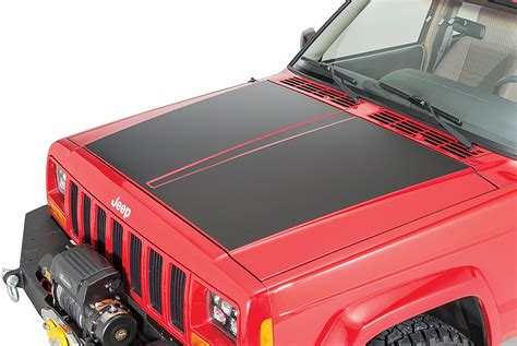 jeep hood stickers quadratec premium vinyl hood blackout decal for 84 01 jeep