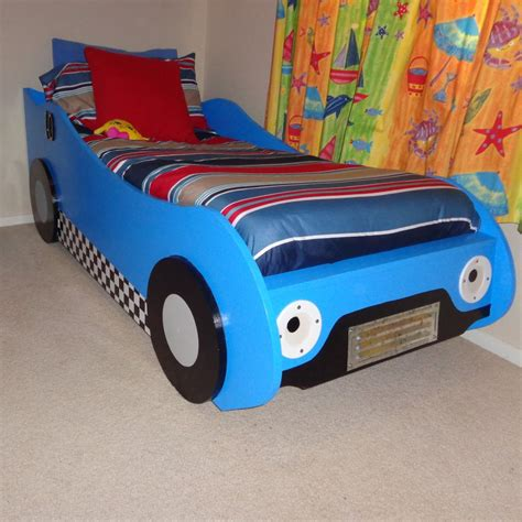 racecar toddler bed diy kids racing car bed woodworking plans